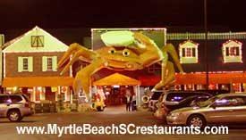 Myrtle Beach restaurants - Giant Crab